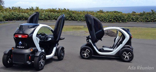 location de voiture lectrique la r union louez la twizy avec ada. Black Bedroom Furniture Sets. Home Design Ideas