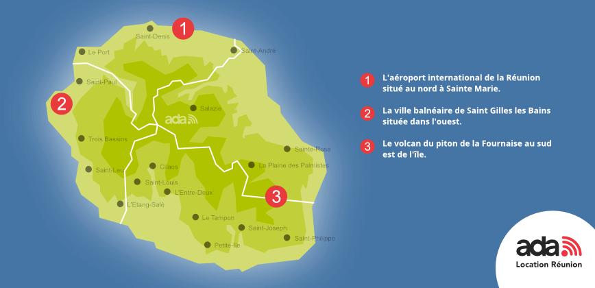 Plan Et Carte Gratuite Ile De La Reunion